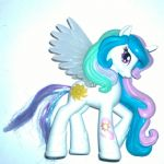 My Little Pony  Equestria Girls Celestia Pony from doll set